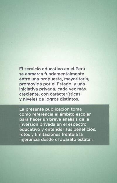 descripcion Educación privada: retos y perspectivas